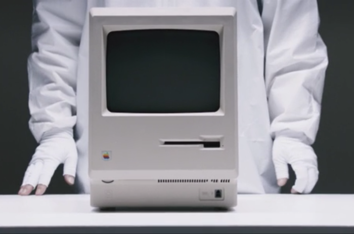 old Apple computer as seen in Jobs movie