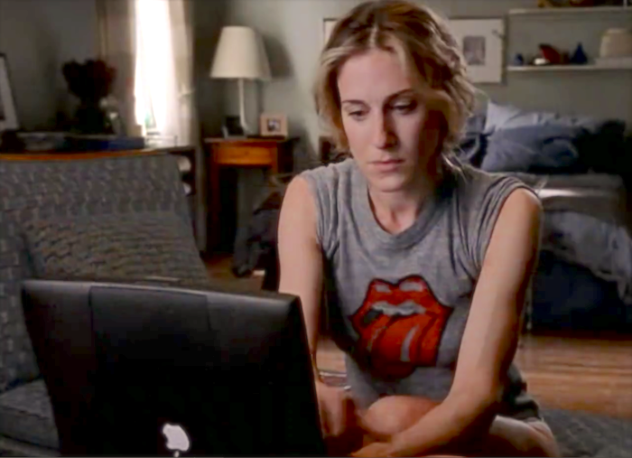 ibook Apple computer in Sex and the City tv show