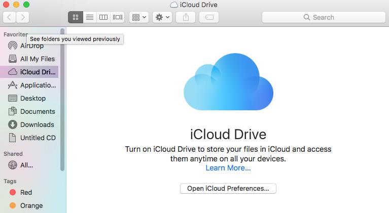 open my icloud download mac