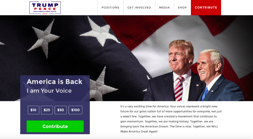 Trump Website Leak